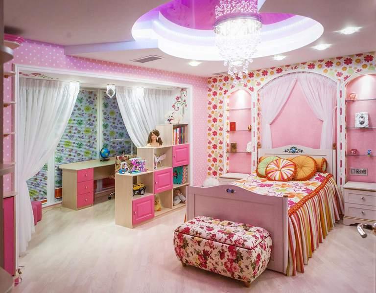 Как сделать дизайн детской комнаты для девочек 517