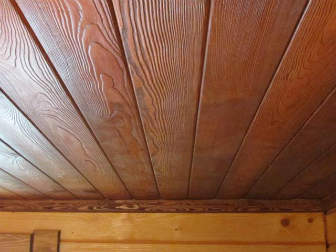 Потолок из имитации бруса своими руками