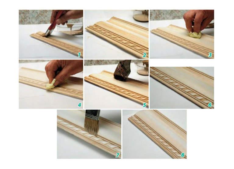Покраска потолочных плинтусов 25 фото какой краской красить плинтус из пенопласта и другие Надо ли грунтовать перед окраской