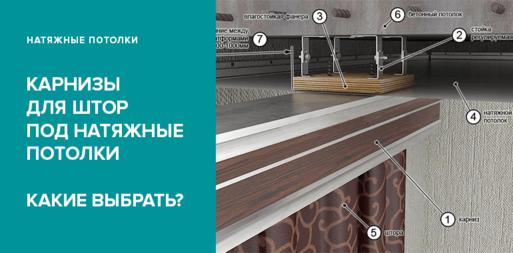 Какие карнизы для штор под натяжные потолки лучше выбрать?